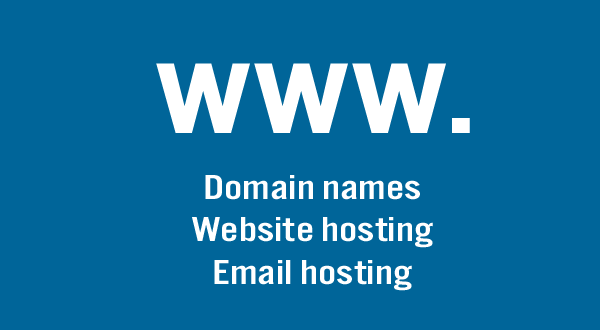 Domain names, website hosting and email hosting