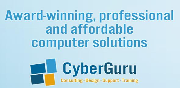 Image of CyberGuru's slogan and logo